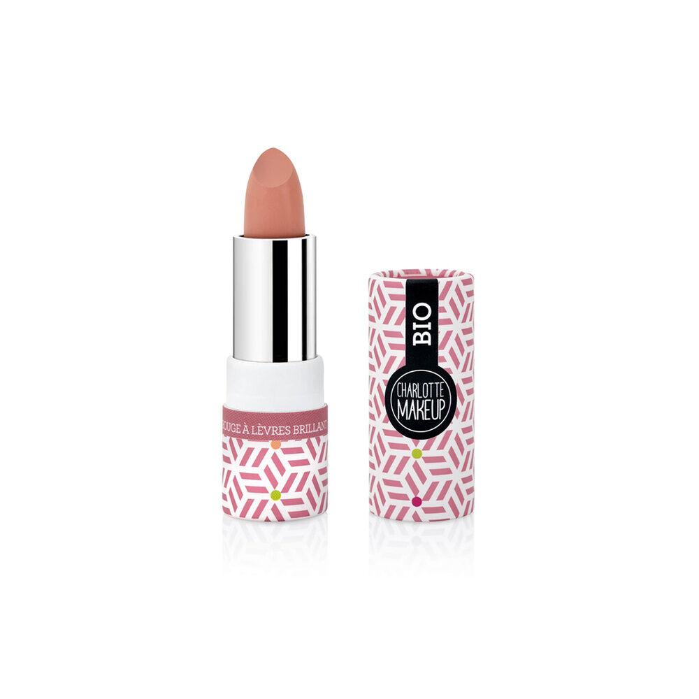 Charlotte Bio 01 - Rouge à lèvres Bois de Rose Brillant Bio Rouge à lèvres