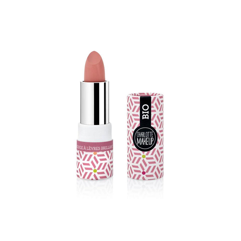 Charlotte Bio 03 -Rouge à lèvres Rose Vintage Brillant Bio Rouge à lèvres