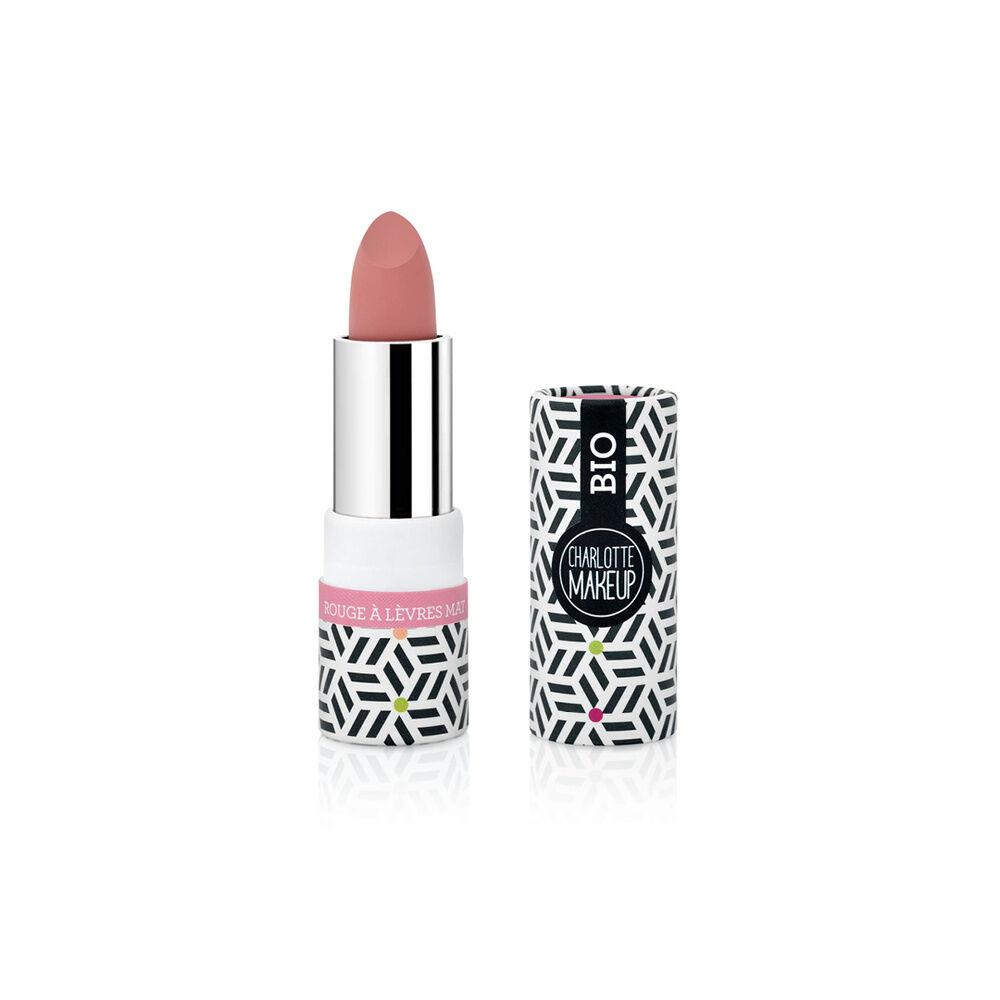 Charlotte Bio 10 -Rouge à lèvres Rose Girly Mat Bio Rouge à lèvres