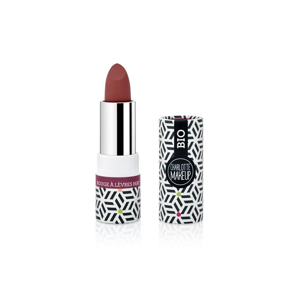 Charlotte Bio 06- Rouge à lèvres Rouge Bordeaux Mat Bio Rouge à lèvres