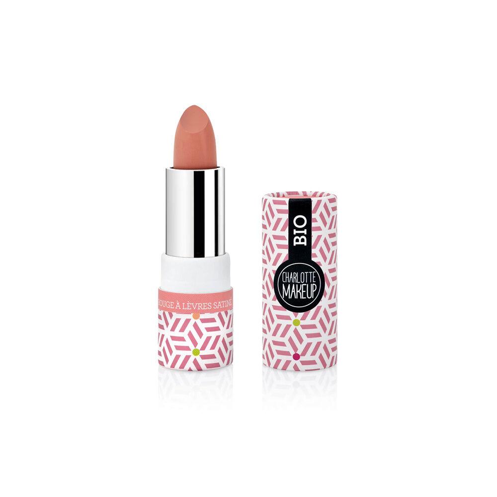 Charlotte Bio 02- Rouge à lèvres Corail Satiné Bio Rouge à lèvres