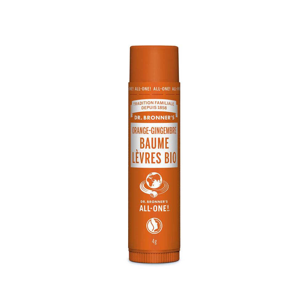 Dr Bronner's - Baume à lèvres BIO Orange/Gingembre - 4g Baume à lèvres