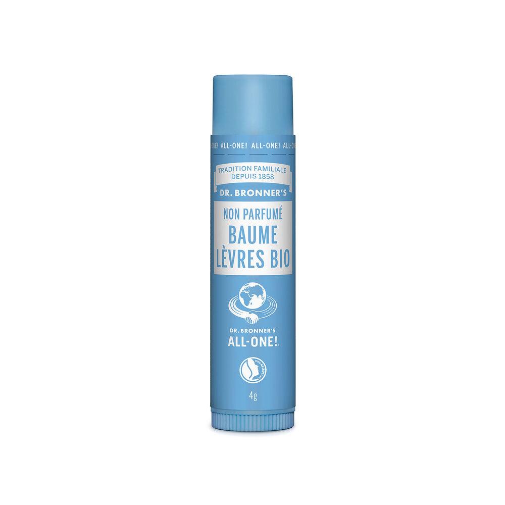 Dr Bronner's - Baume à lèvres BIO non parfumé - 4g Baume à lèvres