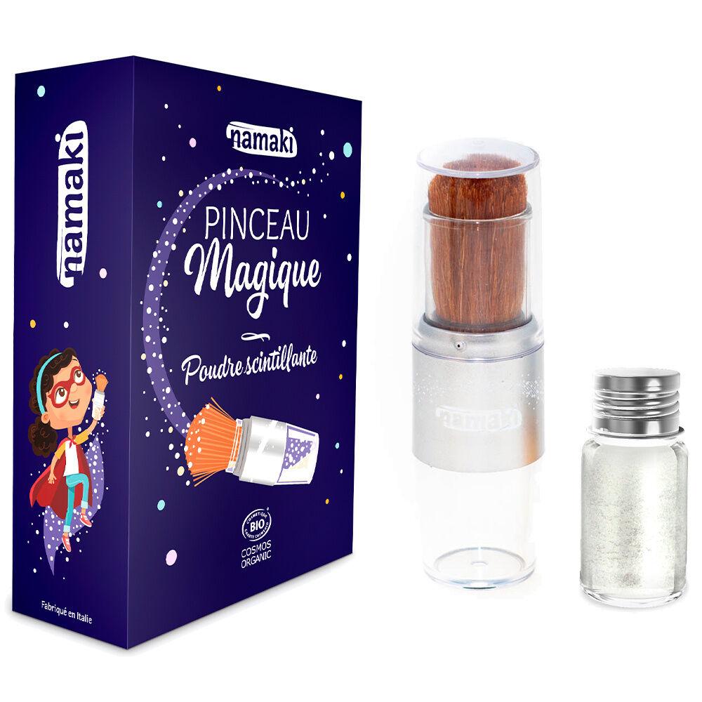 namaki Paillettes / Maquillage de fête Poudre argent et pinceau