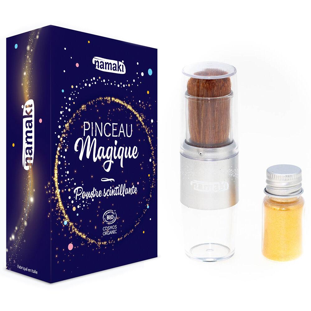 namaki Paillettes / Maquillage de fête Poudre dorée et pinceau
