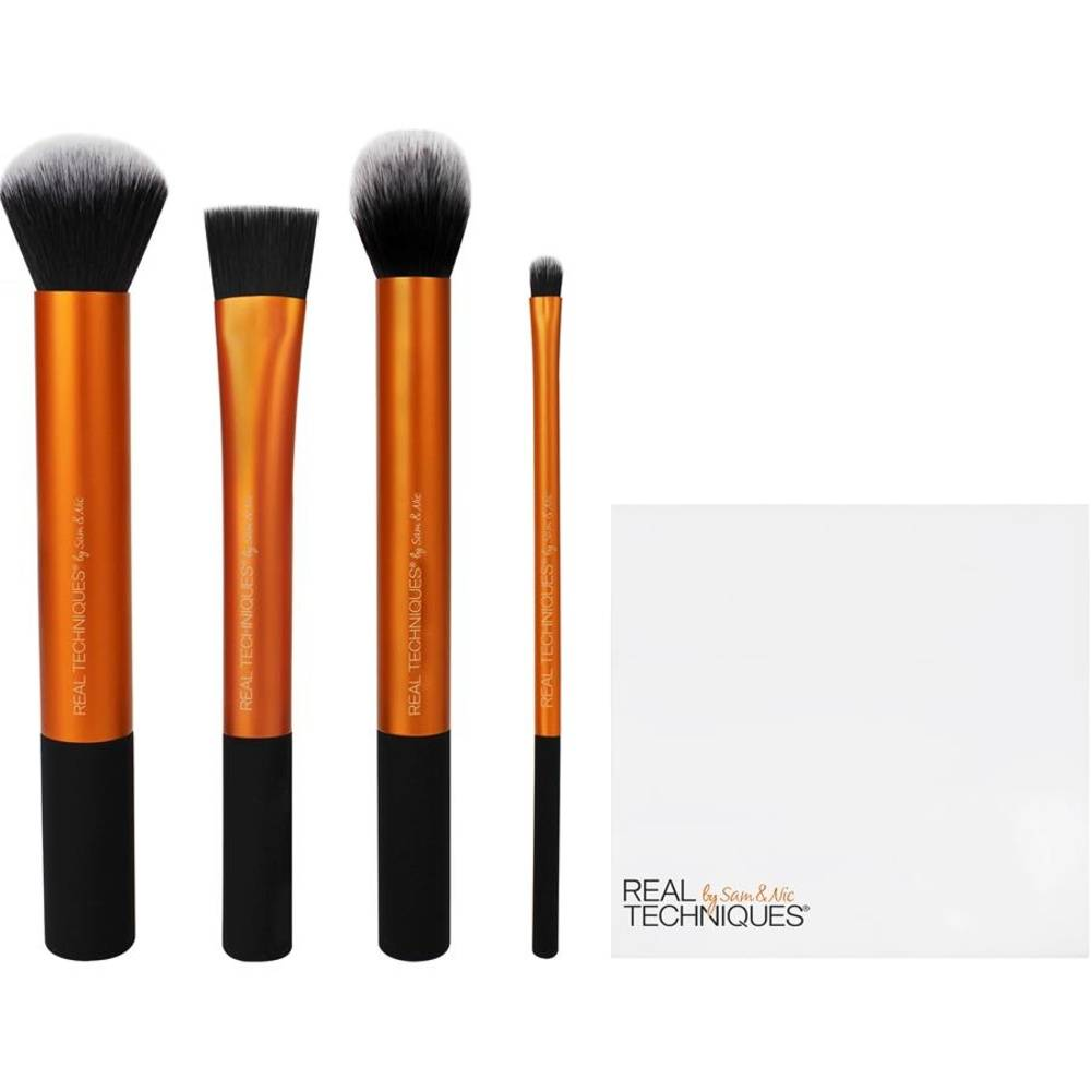 Real Techniques  Contour Brush + Square Foundation Brush+ Detailer Brush + Buffing Brush + Cup 1Stk.