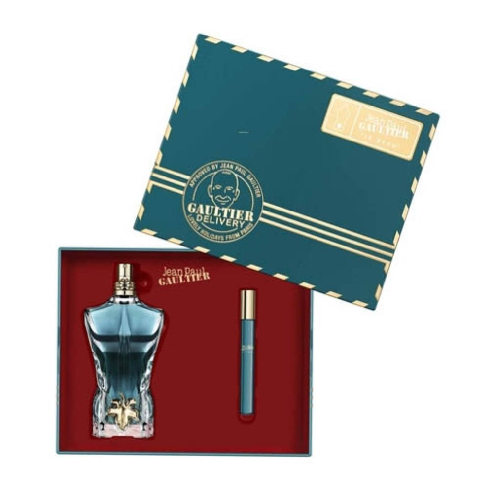 Jean Paul Gaultier LE BEAU  Eau de toilette 125ml et son travel spray 10ml COFFRET ALCOOL