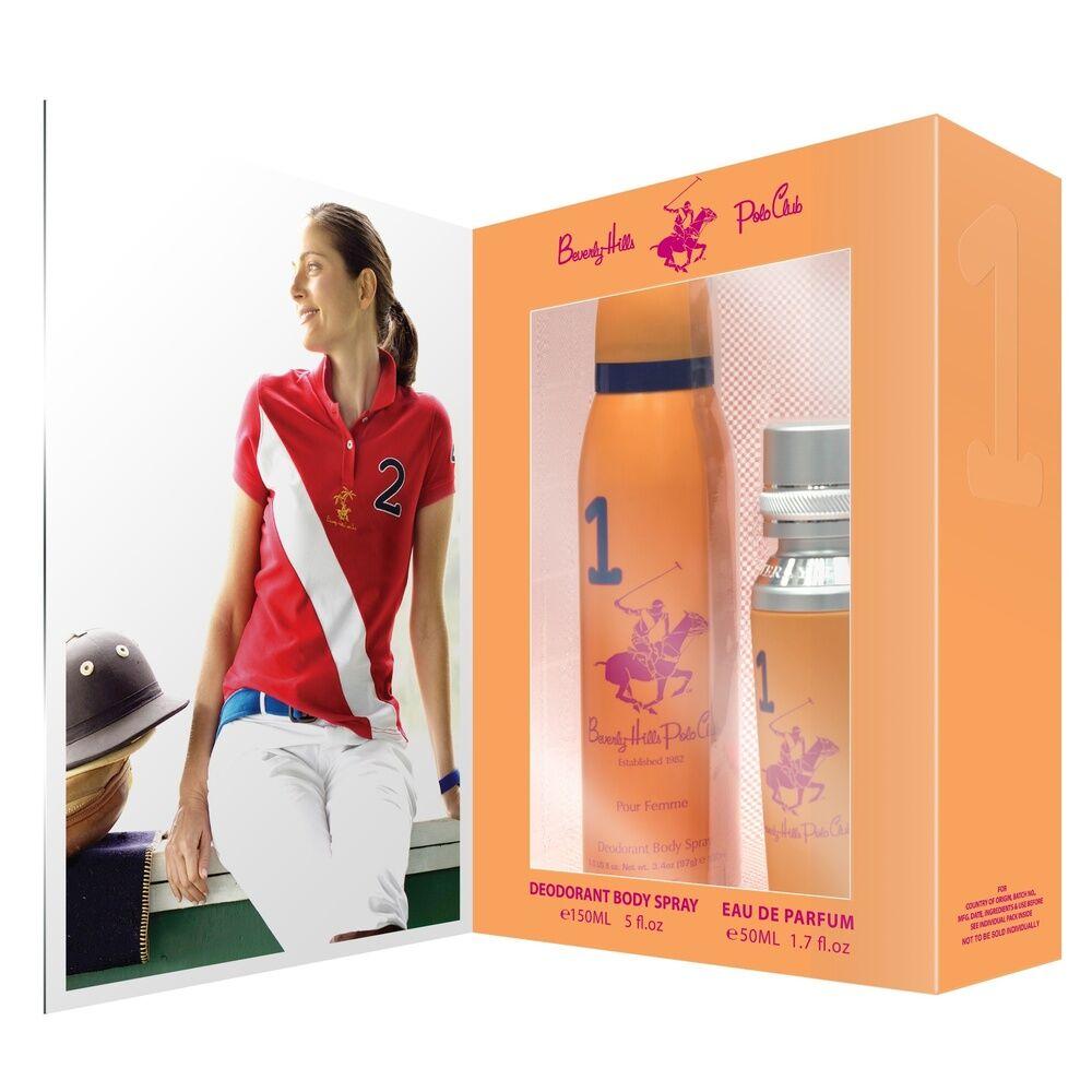 Beverly hills polo club 1982 Femme Coffret Eau de parfum vaporisateur 50 ml&déodorant spray 150 ml