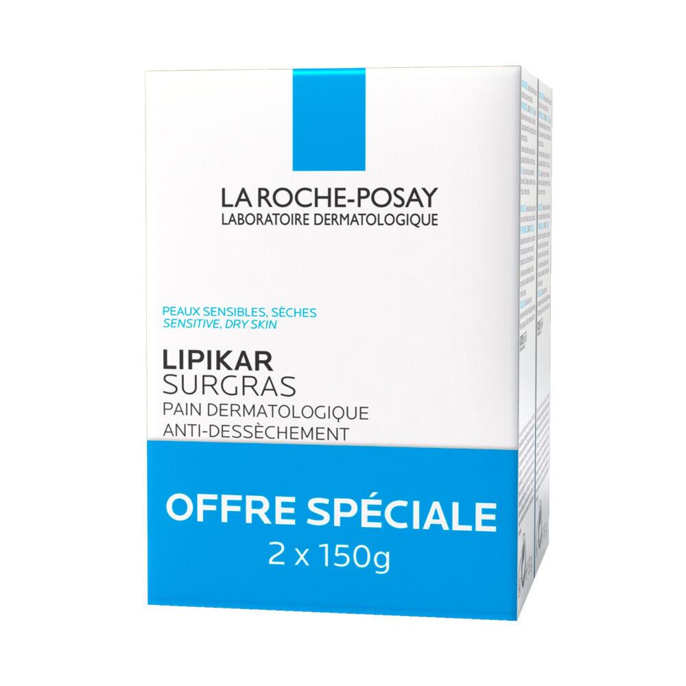La Roche Posay LOT*2 Lipikar Pain surgras dermatologique anti-dessèchement 150g Pains surgras anti-dessèchement peaux sensibles et sèches