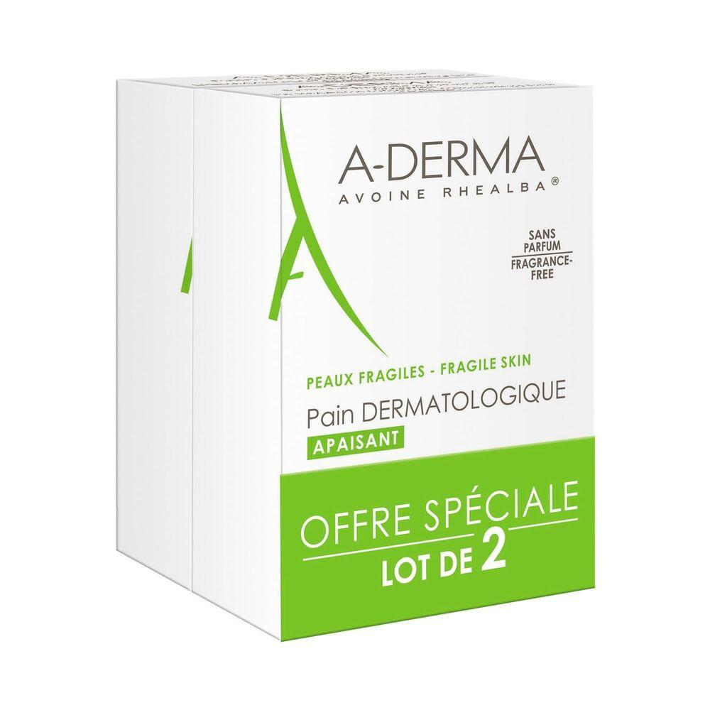 A-Derma Les Indispensables  Pain Dermatologiqueau Lait dAvoine Duo 2 x 100 gr Pain dermatologique