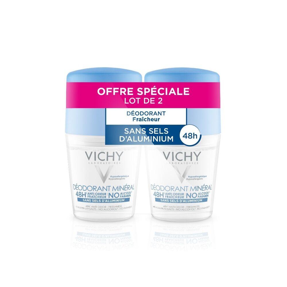 Vichy Lot*2deodorant bille sans sel d'alu minéral 48h Déodorant