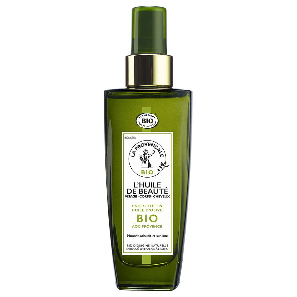 La Provençale L'Huile de Beauté enrichie en Huile d'Olive BIO AOC Provence Soin et Huile Hydratante Multi-Usages Bio