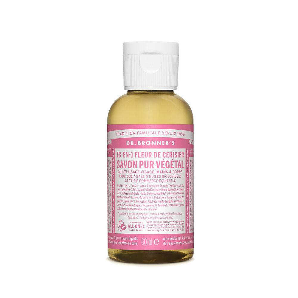 Dr Bronner's - Savon liquide Fleur de Cerisier - 60ml Savon liquide