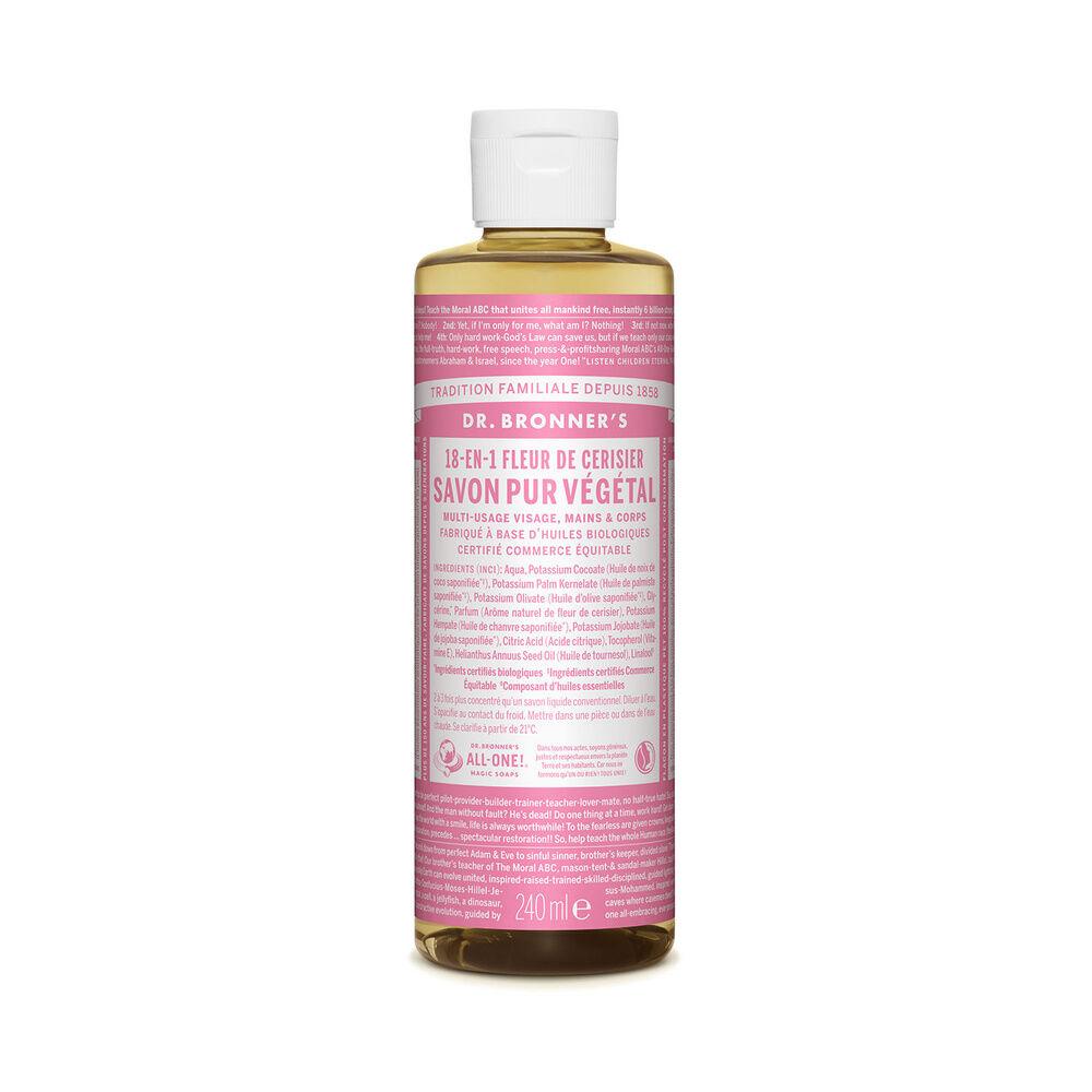 Dr Bronner's - Savon liquide Fleur de Cerisier - 240ml Savon liquide
