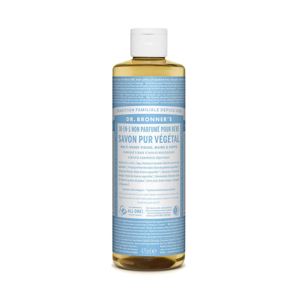 Dr Bronner's - Savon liquide non parfumé - 475ml Savon liquide
