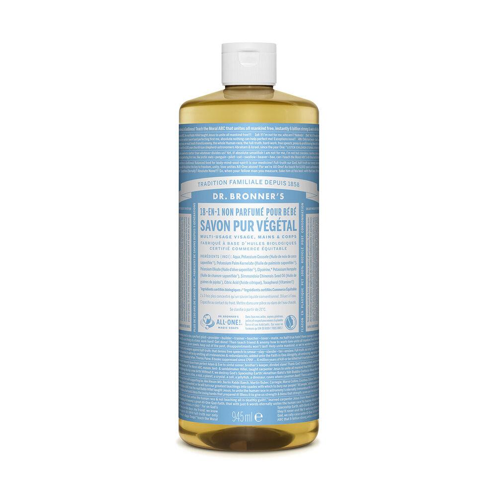 Dr Bronner's - Savon liquide non parfumé - 945ml Savon liquide