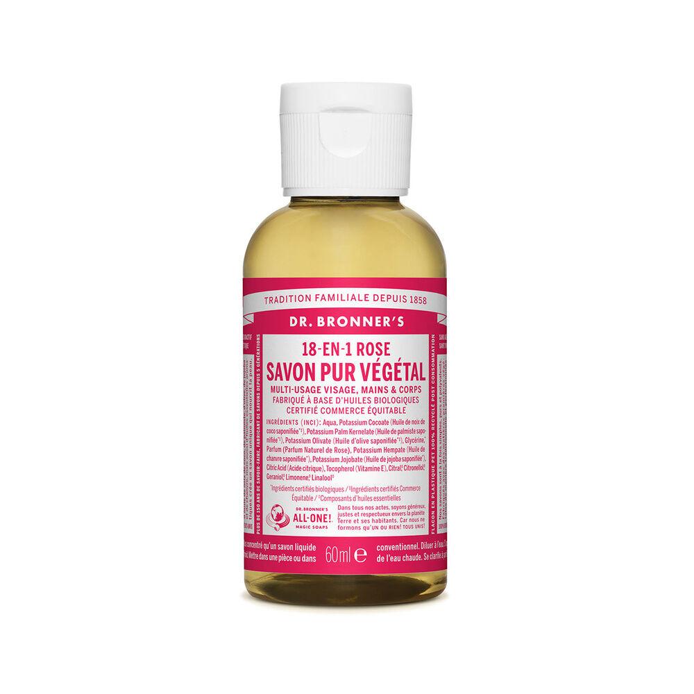 Dr Bronner's - Savon liquide Rose - 60ml Savon liquide