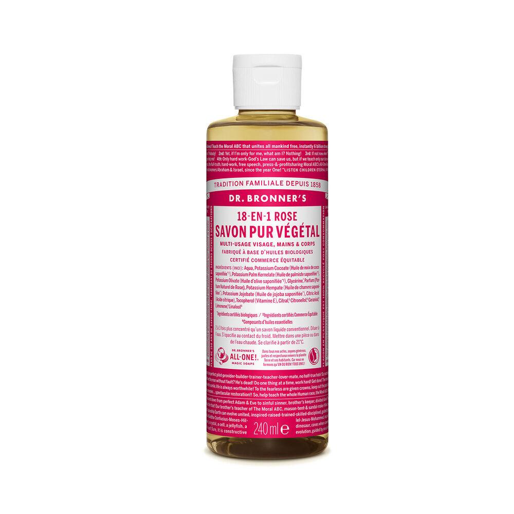Dr Bronner's - Savon liquide Rose - 240ml Savon liquide