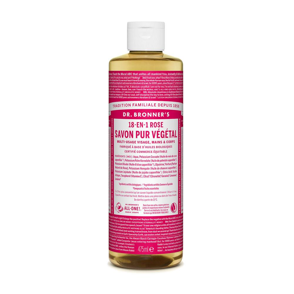 Dr Bronner's - Savon liquide Rose - 475ml Savon liquide