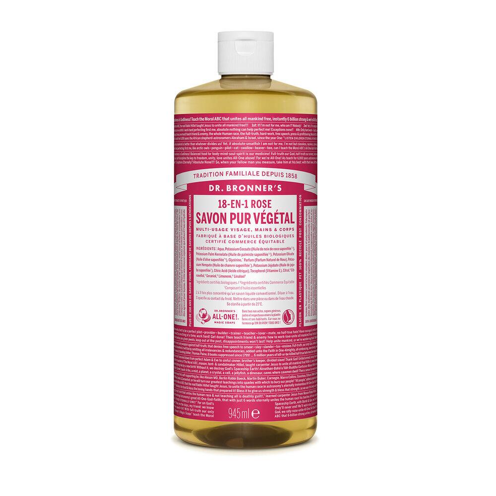 Dr Bronner's - Savon liquide Rose - 945ml Savon liquide
