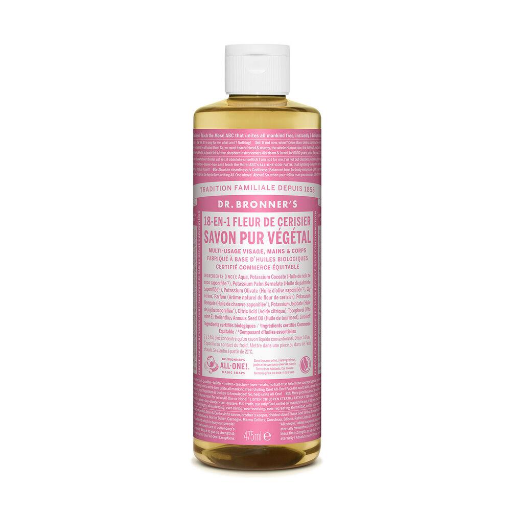 Dr Bronner's - Savon liquide Fleur de Cerisier - 475ml Savon liquide