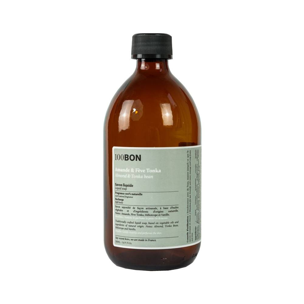 100Bon Bain et Savons Liquides AMANDE ET FEVE TONKA LIQUID SOAP RECHARGE 500ML
