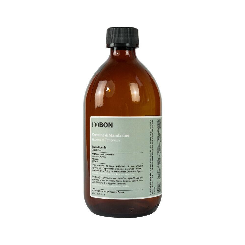 100Bon Bain et Savons Liquides VERVEINE ET MANDARINE LIQUID SOAP RECHARGE 500ML
