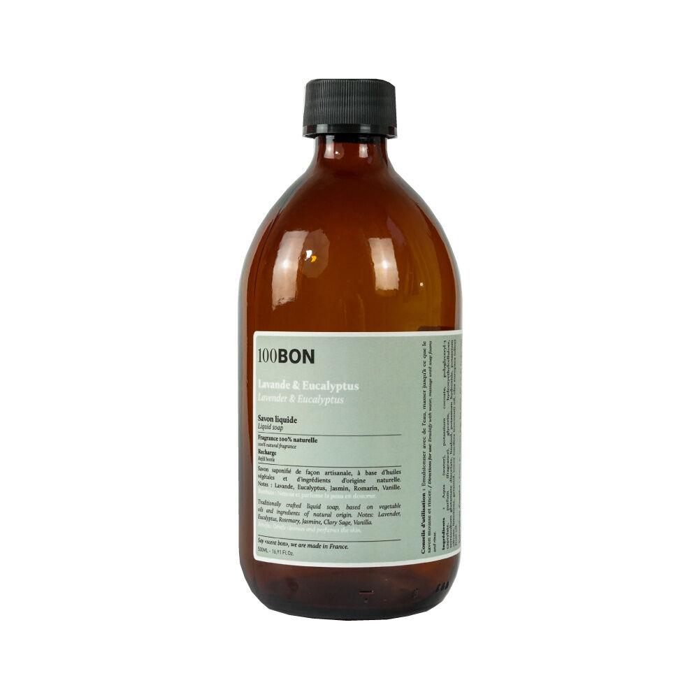 100Bon Bain et Savons Liquides LAVANDE ET EUCALYPTUS LIQUID SOAP RECHARGE 500ML