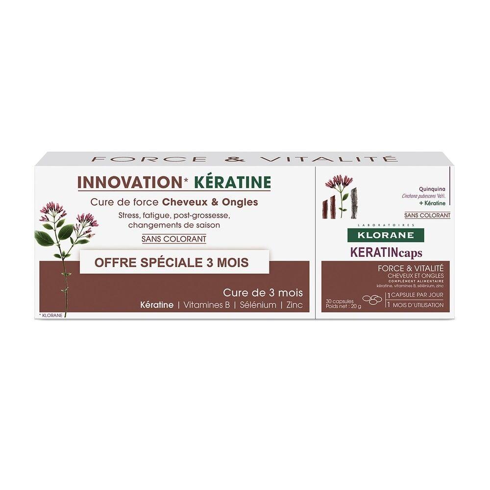 Klorane KeratinCaps TRIO 3x30 capsules Complément alimentaire
