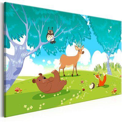 Artgeist 120x80 - Tableau - Friendly Animals (1 Part) Wide