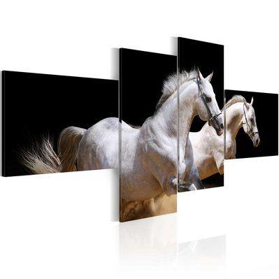 Artgeist 100x45 - Tableau - Monde des animaux - chevaux au galope