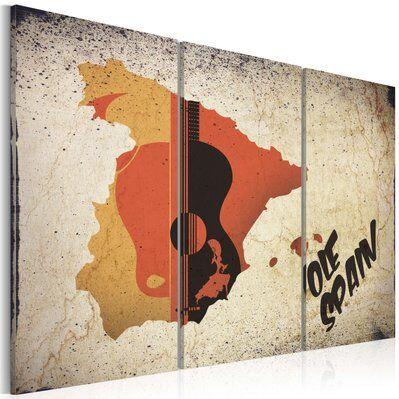 Artgeist 90x60 - Tableau - ¡Olé! Spain - Triptych