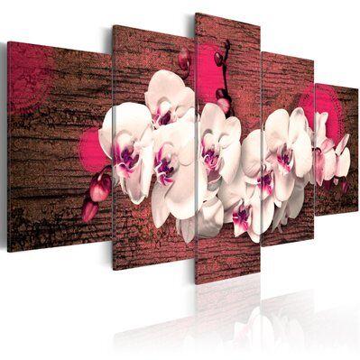 Artgeist 200x100 - Tableau - Joie et orchidée