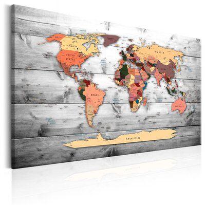 Artgeist 120x80 - Tableau - World Map: New Directions