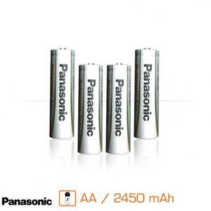 Panasonic Pack de 4 piles rechargeables AA - 2450 mAh - Publicité
