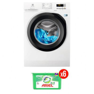 Electrolux Lave-linge frontal ELECTROLUX - 8 kg - 1200 trs/min - PerfectCare - blanc + 6 mois de lessive Ariel