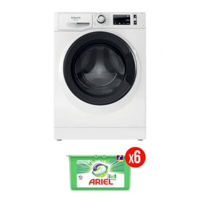 Hotpoint Lave-linge frontal HOTPOINT - 9 kg - 1351 trs/min - 17 programmes - Active Care - blanc + 6 mois de lessive Ariel