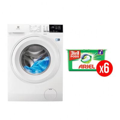 Electrolux Lave-linge frontal ELECTROLUX - 9 kg - 1400 trs/min - SensiCare - blanc + 6 mois de lessive Ariel