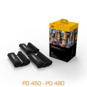 Kodak 3 cartouches & papier pour imprimantes PD450, PD480 - 120 feuilles - Publicité