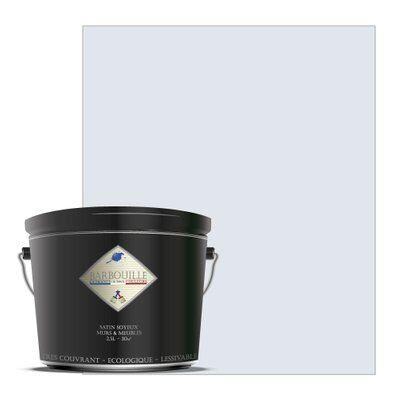 Barbouille Laque acrylique satin – meubles, bois, murs et plafonds - 2,5 ltr Blanc - Innocent