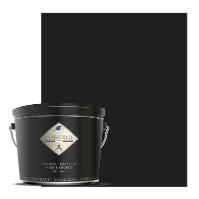 Barbouille Peinture lessivable acrylique velours – murs et plafonds - 2,5 ltr Gris & Noir - Vodounô