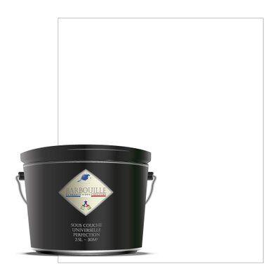 Barbouille Sous-couche acrylique universelle pour une préparation optimale de tout vos supports absorbants. 2,5 ltr Blanc - Titanium