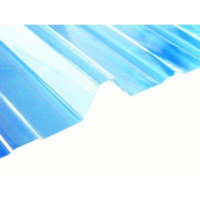 Mccover Plaque type bac acier 1045 en polycarbonate Transparent, l : 105 cm, L : 200 cm