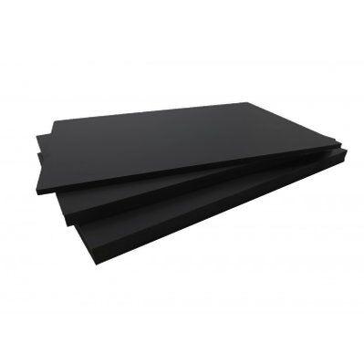 Mccover Panneau fibre composite plat et lisse Noir, E : 5 mm, l : 40 cm, L : 80 cm, Surface couverte en m² - 0.32