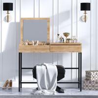 Noname Coiffeuse Linda - 100 x 45 x 75 cm - chêne & noir <br /><b>149.99 EUR</b> Bricoprive.com