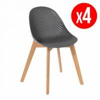 Inari Pack de 4 chaises ALICIA - gris <br /><b>159.99 EUR</b> Bricoprive.com