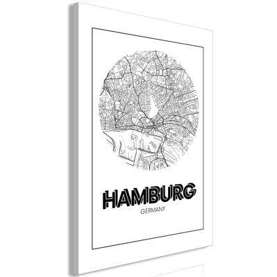 Artgeist 40x60 - Tableau - Retro Hamburg (1 Part) Vertical