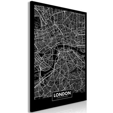 Artgeist 40x60 - Tableau - Dark Map of London (1 Part) Vertical