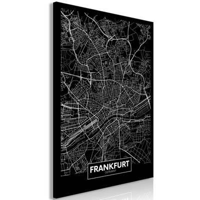 Artgeist 40x60 - Tableau - Dark Map of Frankfurt (1 Part) Vertical