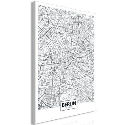 Artgeist 40x60 - Tableau - Map of Berlin (1 Part) Vertical